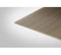 Сотовый поликарбонат Полигаль 4,0x2100x12000 бронзовый 42% ГОСТ
