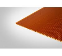 Сотовый поликарбонат Полигаль 10,0x2100x12000 янтарный 25% ГОСТ
