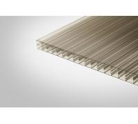 Сотовый поликарбонат Полигаль 16,0x1000x12000 бронзовый 30% ГОСТ